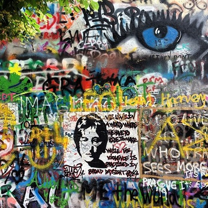 John Lennon graffiti Prague