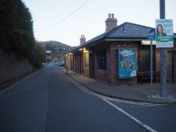 Empty street and station
